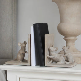 Grey Mice Bookends