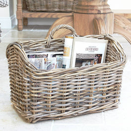 Large Rattan Magazine Basket