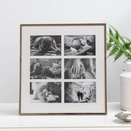 6 Aperture Silver Plated Fine Photo Frame