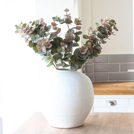 Large Blush Eucalyptus Spray