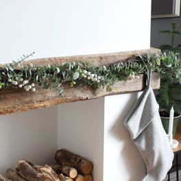 Eucalyptus and White Berry Garland
