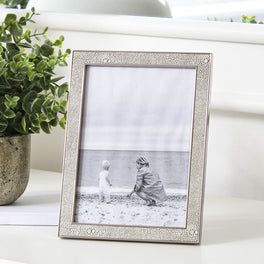 Ivory Faux Shagreen Photo Frame 5x7""