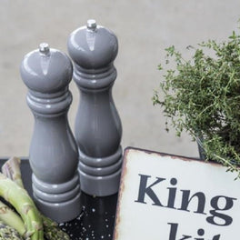 Pale Grey Salt And Pepper Mill Set