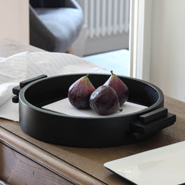 Black Wooden Display Tray