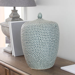 Large Dimpled Ceramic Vase