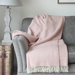 Blush Pink Wool Throw
