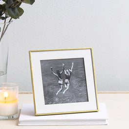 Brass Plated Fine Photo Frame 4x4""