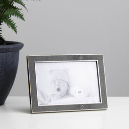 Grey Faux Shagreen Photo Frame 4x6""