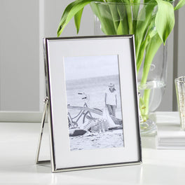 Silver Plated Fine Easel Photo Frame 4x6""