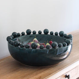 Large Decorative Teal Bowl