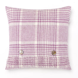 Prince of Wales Lilac Merino Lambswool Cushion