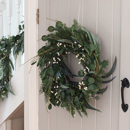 Mixed Eucalyptus Berry Wreath