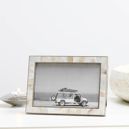 Mother Of Pearl Photo Frame 4x6""