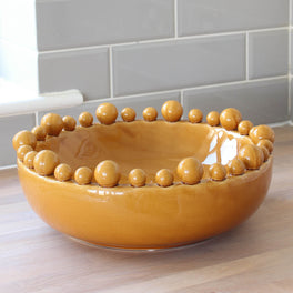 Large Decorative Mustard Bowl