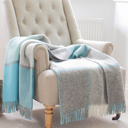 Penbryn Blue Wool Throw