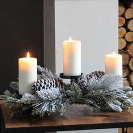 Pinecone Candle Holder Centrepiece