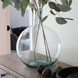 Recycled Round Glass Vase
