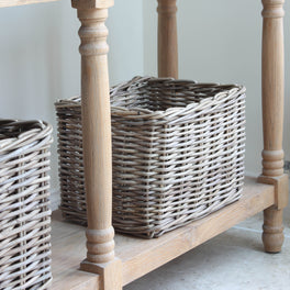Rattan Rectangular Storage Basket