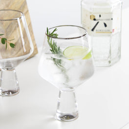Two Silver Gin Glasses