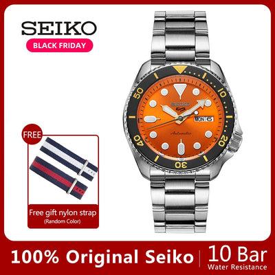 100%Original Official New SEIKO Watch Automatic Mechanical Diver Waterproof  Luminous Men'sWatch Asia