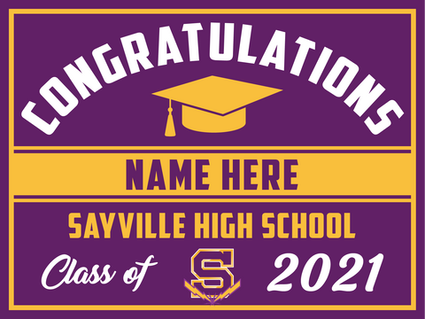 2021 Sayville Lawn Sign (Name)