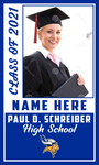 2021 Paul D. Schreiber Porch Banner (Name/Photo)
