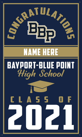 2021 Bayport-Blue Point Door Banner (Name)
