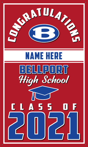 2021 Bellport Door Banner (Name)