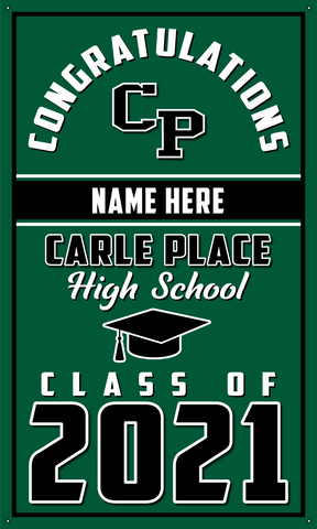 2021 Carle Place Door Banner (Name)