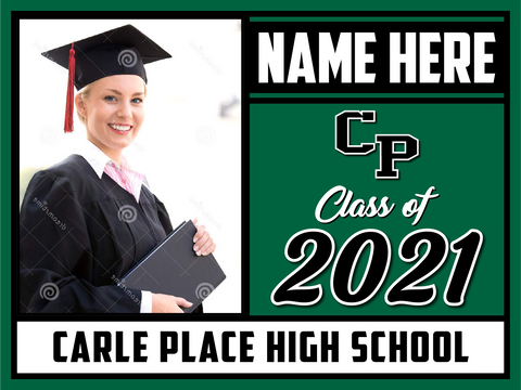 2021 Carle Place Lawn Sign (Name/Photo)
