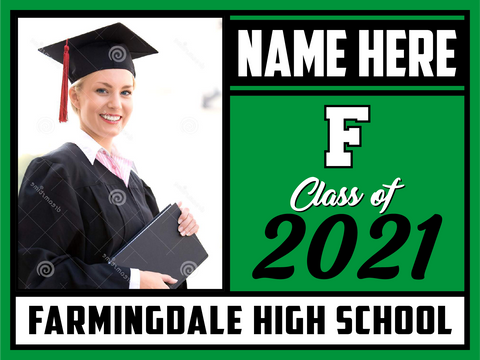 2021 Farmingdale Lawn Sign (Name/Photo)