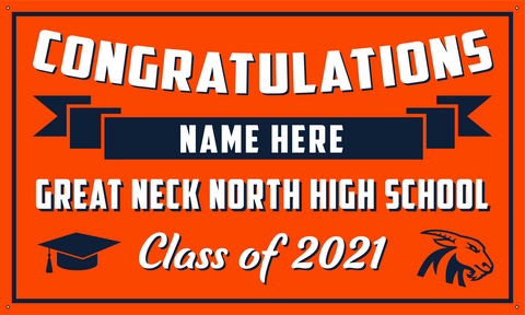 2021 Great Neck North Porch Banner (Name)