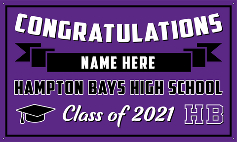 2021 Hampton Bays Porch Banner (Name)