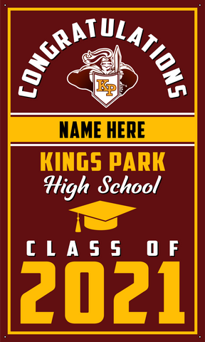 2021 Kings Park Door Banner (Name)