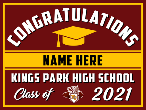 2021 Kings Park Lawn Sign (Name)