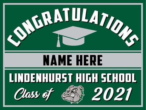 2021 Lindenhurst Lawn Sign (Name)