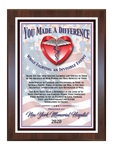 You Made A Difference - Healthcare Award Plaque