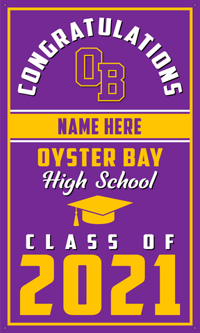 2021 Oyster Bay Door Banner (Name)