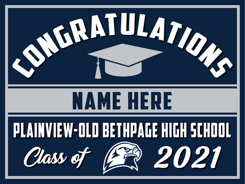 2021 Plainview Old Bethpage Lawn Sign (Name)