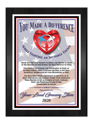 You Made A Difference - General Community Plaque