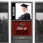 "Walt Whitman H.S. 30""x 50"" Door Banner - Photo & Name"