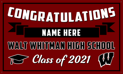 2021 Walt Whitman Porch Banner (Name)