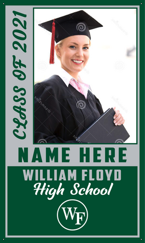 2021 William Floyd Door Banner (Name/Photo)