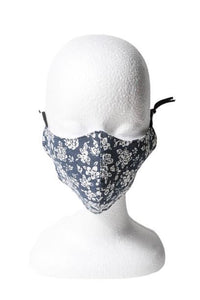 Floral Reusable Face Mask - Navy