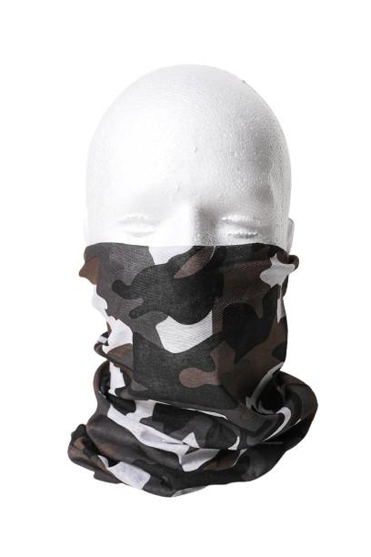 Gray Camo Neck Gaiter - Face Mask