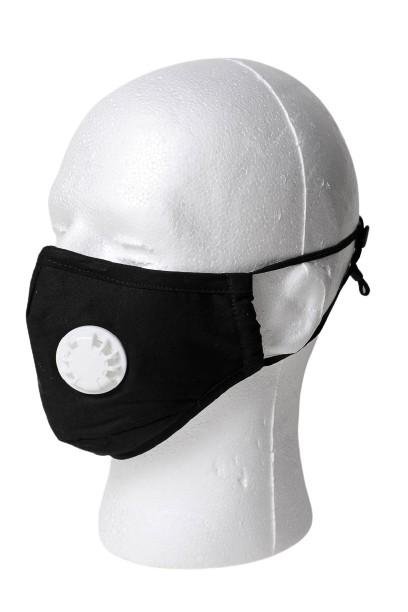 Solid Color Respirator Face Mask - Black