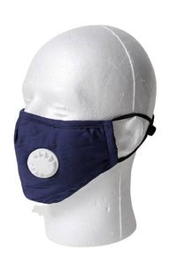 Solid Color Respirator Face Mask - Blue