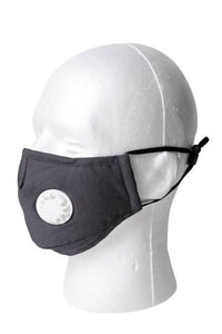 Solid Color Respirator Face Mask - Gray