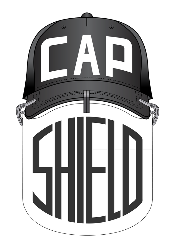 The Cap Shield is a patent pending protective face shield with a universal fit to any standard, curved brim ball cap or visor. It attaches to your brim using three innovative clips.  Industries include: Food Service, Kitchen Staff, Drive-Through Window Service, Food Trucks, Industrial Manufacturing, and more.