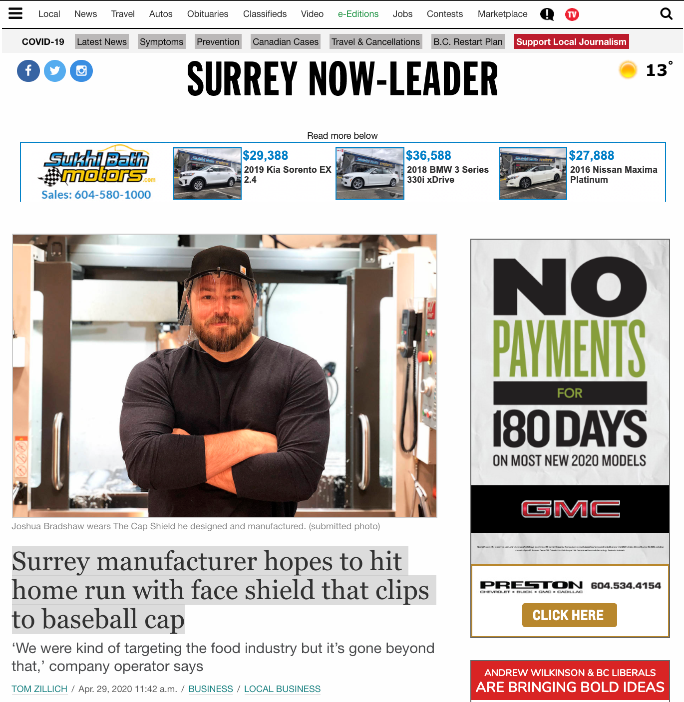 Surrey Now Article